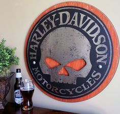 Harley-Davidson Wooden Skull Chair | Home > Transportation > Motorcycle Gifts > All Motorcycle Gifts ...
