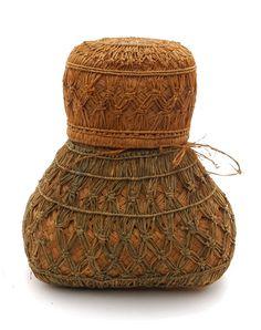 Africa | Granery storage basket from Madagascar | 20th century | Vegetable fiber