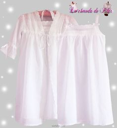 CAMISONES Y PIJAMAS PARA COMUNIÓN.: Cotton Nighties, Cotton Dresses, Little Girl Dresses, Girls Dresses, Looks Teen, Kids Nightwear, Girls White Dress, Kids Pajamas, Pyjamas