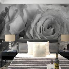 Custom photo wallpaper large murals TV background wallpaper modern elegant minimalist roses non-woven wallpaper #Affiliate
