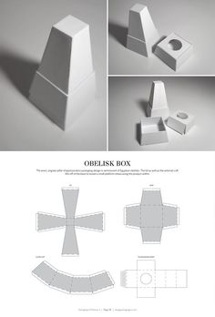Obelisk Box – FREE resource for structural packaging design dielines Packaging Dielines, Packaging Box, Jewelry Packaging, Packaging Design, Diy Gift Box, Diy Box, Obelisk, Paper Folding, Paper Models