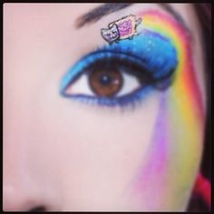 Nyan Cat face paint for the eye :D