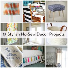 Roundup: 15 Must-Try No-Sew Home Decor Projects