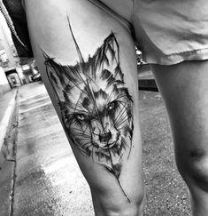 Sketch style wolf by Inez Janiak