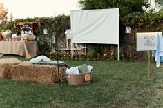 Need to get myself a projector. Such a fun backyard idea