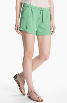 More mint, please! (Joie 'Concetta' Belted Cuff Shorts available at Nordstrom)