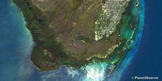 Everglades national park and Miami, FL, USA - PlanetSAT 15 L8 satellite image