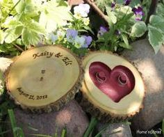 Ring Pillow Personalized Lid and Custom Colored Heart