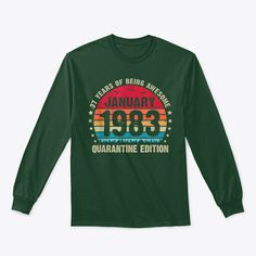 Discover 37 Year Old Bday Vintage January 1983 Qu T-Shirt, a custom product made just for you by Teespring. With world-class production and customer support, your satisfaction is guaranteed. - 37 YEAR OLD BDAY VINTAGE JANUARY 1983... Mens Ugly Christmas Sweater, Funny Christmas Sweaters, Christmas Shirts, Christmas Meme, Merry Christmas, Father's Day T Shirts, Dad To Be Shirts, Dad Birthday Quotes, Birthday Gifts
