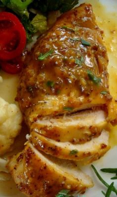 Sweet Mustard Chicken ~ With this recipe the chicken breast will always make a succulent and flavoursome addition to your dinner meal.