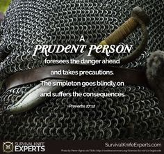 A prudent person foresees danger and takes precautions. The simpleton goes blindly on and suffers the consequences. Positive Life, Positive Thoughts, Bible Quotes, Bible Verses, Responsibility Quotes, Proverbs 27, Celebrate Recovery, Speak Life, Survival Quotes