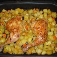 Kuřecí stehna na řecký způsob Poultry, Shrimp, Food And Drink, Menu, Treats, Chicken, Recipes, Gardening, Cooking Recipes