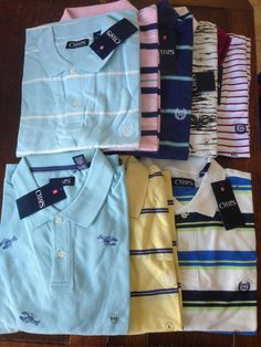 NWT Ralph Lauren Chaps Mens Polo Short Sleeve Shirts Striped Sz S M L XL 2XL