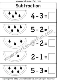 Subtraction Within 5 – One Worksheet / FREE Printable Worksheets – Worksheetfun Subtraction Kindergarten, Subtraction Worksheets, Kindergarten Math Worksheets, Maths, Free Printable Worksheets, Free Printables, Free Math, Education, Homeschooling