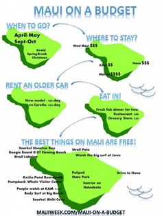 For more information on how to do Maui on a budget, see my Maui on a Budget page. Feel free to share this Maui on a Budget Infographic by using the code snippet below in it's entirety. Mahalo Hawaii, Maui Hawaii, Hawaii Resorts, Hawaii Life, Kahului Hawaii, Maui Hotels, Visit Hawaii, Trip To Maui, Maui Vacation