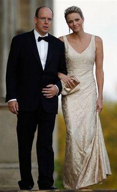 Le prince Albert et la princesse Charlène de Monaco