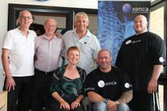 The Xenca directors with Ifbb Pro Dan Smith and strong man Tom Kelly