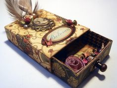 This is made from a match box.  I like the old look, map, cameo etc