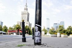 Street Art in Warsaw: Little Big Varsovians is a series by dj dreadlock and two friends as TBA group. It's a commemoration of the 68th anniversary of the Warsaw Uprising.