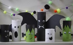 How to Make Halloween Toilet Roll Craft #Halloween #KidsCraft