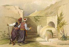 """Tomb of Joseph at Shechem"", by David Roberts 1839"
