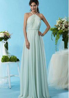 2015 Zipper Straps Criss Cross Mint Ruched Sleeveless Chiffon Floor Length Bridesmaid / Prom Dresses By Eden 7444