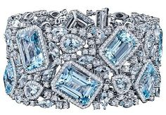 Robert Procop Blue Topaz & Diamond Bracelet.
