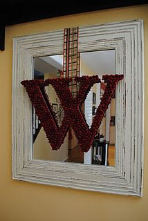 You can do this with pearls as well, and any type of ribbon.  Not just for Christmas.  Great idea!