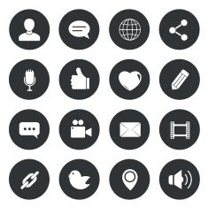 Chat circle Icons. vector illustration. vector art illustration