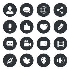 Chat circle Icons. vector illustration. vector art illustration