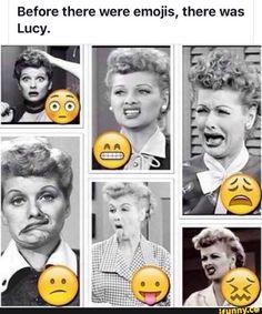 Emojis I love Lucy Funny Babies, Funny Kids, Funny Cute, Funny Shit, Funny Jokes, Funny Stuff, Funny Sarcasm, Funny Things, Random Stuff