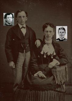 William Henry McCarty, Jr.(Billy The Kid) with his mother, Catherine