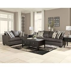 Incroyable Levon Charcoal Living Room Set