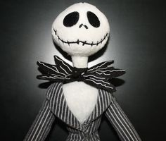 Jack Skellington Christmas Plush Doll Disney Nightmare Before Christmas Sale