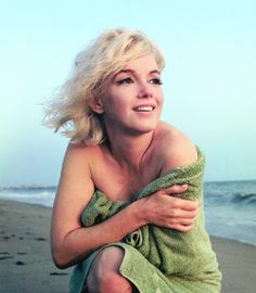Marilyn Monroe on Santa Monica Beach shortly before her death in August 1962, photographed by George Barris