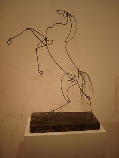Horse wire sculpture by Calder