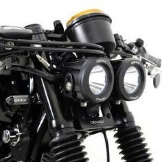 Denali Dual Headlight Conversion Kit for Triumph Bonneville,Thruxton & Scrambler Includes Turn Signal, Ignition, Rectifier & Horn Relocation Brackets, and LED Lighting Kit with Mount Brat Motorcycle, Brat Bike, Motorcycle Lights, Motorcycle Camping, Motorcycle Parts, Motorcycle Mirrors, Triumph Bonneville, Cafe Racer Headlight, Motorcycle Headlight