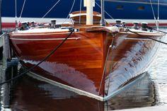 .beautiful wooden boat