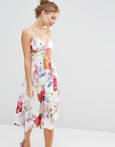 Buy Multicolored Asos Midi dress for woman at best price. Compare Dresses prices from online stores like Asos - Wossel Global Petite Prom Dress, Petite Dresses, Latest Fashion Clothes, Fashion Dresses, Fashion Online, Robes Midi, Prom Dress Shopping, Nursing Dress, Asos Dress
