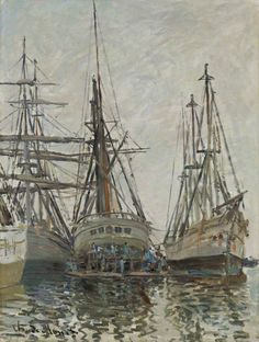 Boats in a Harbour, 1873. Claude Monet