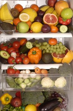 Image result for fruits vegetables refrigerator storage