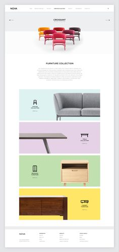 Rebrand for Nova Interiors, who create large runs of hand-finished furniture, for a range of hospitality businesses.