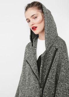 Abrigo algodón capucha
