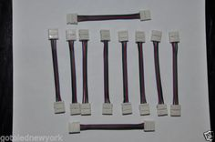 Type: connector strip to strip ideal for RGB 3528 / materials of connector: PVC. You Get 10 Pieces. Led Stripes, Rgb Led, Strip Lighting, Tableware, Dinnerware, Dishes