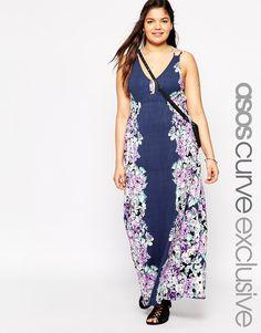 ASOS CURVE Exclusive Maxi Dress in Mirror Floral