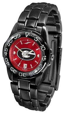 Georgia Bulldogs Womens Fantom Sport Anochrome Watch