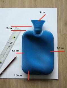 Hot water bottle cover - drawing your pattern
