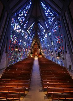 Dalle de Verre First Presbyterian Church in Stamford, Connecticut
