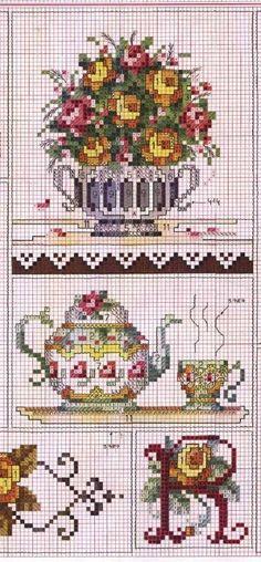 Tea pot / tea cup / flower urn