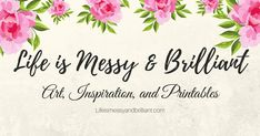 Life is Messy and Brilliant is a creative blog about bullet journaling, digital planning, free printables, and college tips.